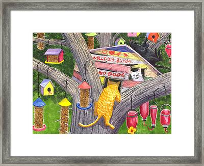 If Cats Could Pound Nails Framed Print by Catherine G McElroy