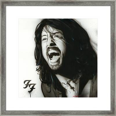 Dave Grohl - ' If Everything Could Ever Feel This Real Forever ' Framed Print by Christian Chapman Art