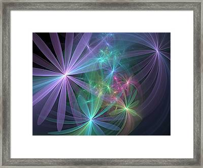 If Flowers Had Wings... Framed Print