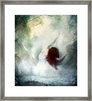 If Heaven Would Have Me Framed Print by Spokenin RED