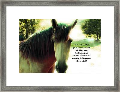If Horses Could Talk - Verse Framed Print