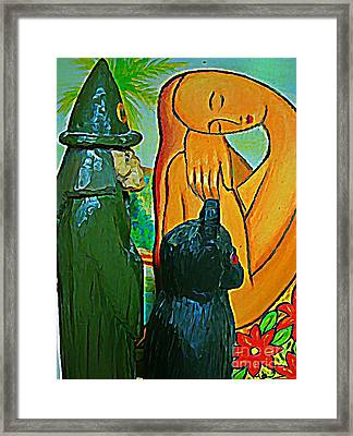 If I Can Not See You You Can Not See Me Framed Print by John Malone