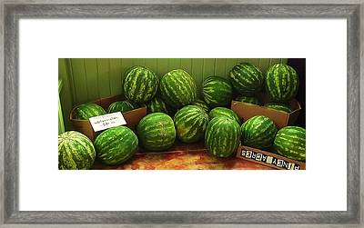 If I Had A Watermelon Framed Print by Patricia Greer