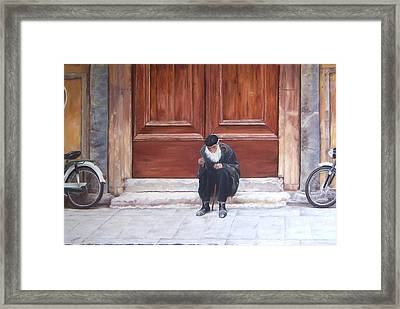 If I Were A Rich Man Framed Print by Jan Matson