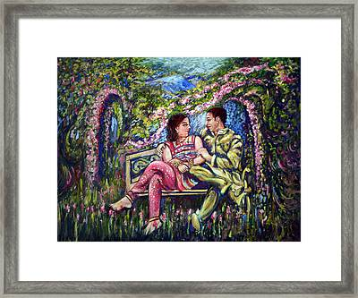 Framed Print featuring the painting If I Will Get Your Love by Harsh Malik