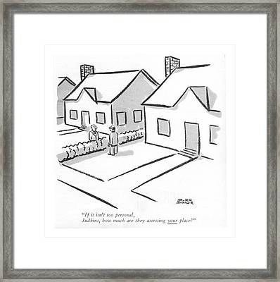 If It Isn't Too Personal Framed Print