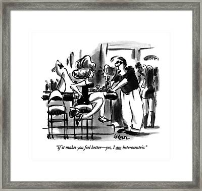 If It Makes You Feel Better - Yes Framed Print by Lee Lorenz