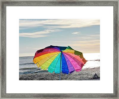 If Life Were Just A Rainbow All The Time Framed Print