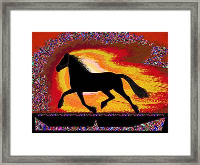 If Mind Is A Horse You Need Your Heart And Soul To Control It For The Right Pace And Direction  Succ Framed Print