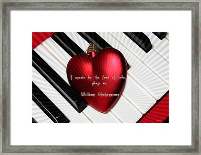 If Music Be The Food Of Love Framed Print