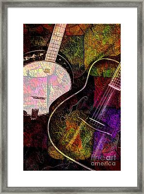 If Not For Color Digital Banjo And Guitar Art By Steven Langston Framed Print by Steven Lebron Langston