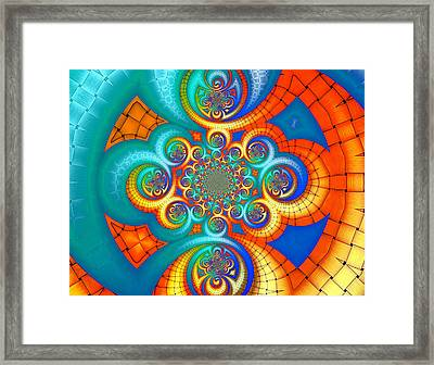 If Orange Is The New Blue . . . Framed Print by Wendy J St Christopher
