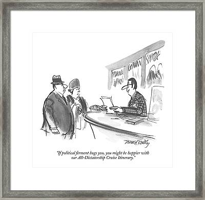 If Political Ferment Bugs Framed Print by Donald Reilly