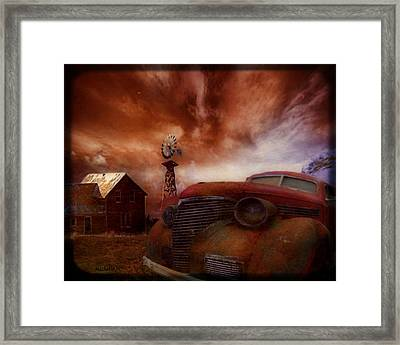 If Rust Could Talk Framed Print by Wishes and Whims Originals By Michelle Jensen