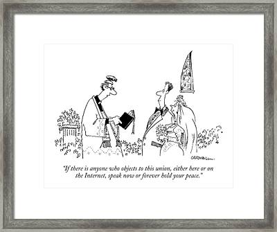 If There Is Anyone Who Objects To This Union Framed Print by John Caldwell