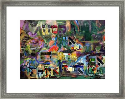 If There Is No Flour There Is No Torah 5 Framed Print by David Baruch Wolk