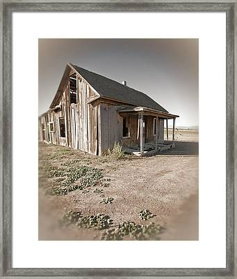 If This Homestead Could Speak Framed Print by Bonnie Bruno