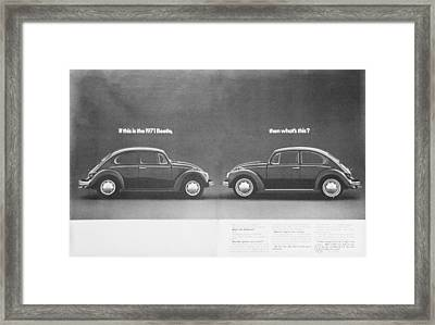 If This Is The 1971 Beetle.............. Framed Print by Georgia Fowler
