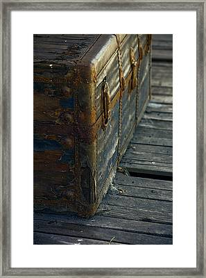 If This Old Trunk Could Talk Framed Print by Bonnie Bruno
