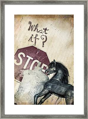 If What? Framed Print by Caitlyn  Grasso