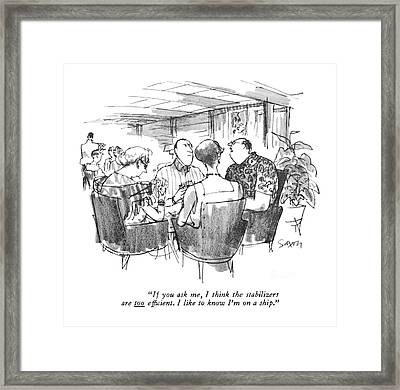 If You Ask Framed Print by Charles Saxon