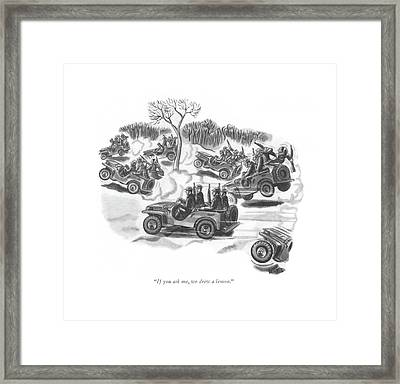 If You Ask Framed Print