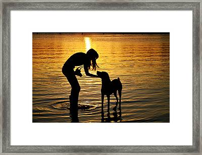if you call I will answer Framed Print