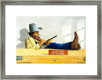 If You Cant Stand The Heat... Framed Print by Will Bullas