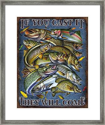 If You Cast It Framed Print by Jon Q Wright