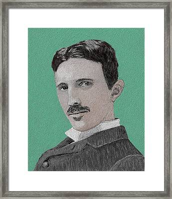 If You Could Read My Mind...tesla Framed Print by GCannon