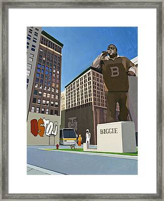 Framed Print featuring the painting If You Dont Know Now You Know by Scott Listfield
