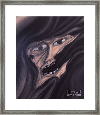 If You Forget Me The Darkness Will Take Me Framed Print by R G Nascimento