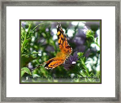 Framed Print featuring the photograph If You Want To Fly by Heidi Manly
