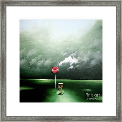Framed Print featuring the painting If You Were Waiting For A Sign This Is It by Ric Nagualero