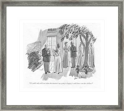 If You'd Only Told Me When The Invasion Was Going Framed Print by Helen E. Hokinson