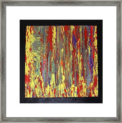 Framed Print featuring the painting If...then by Michael Cross
