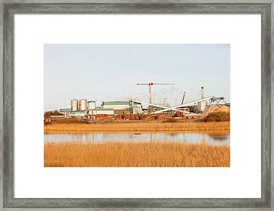 Iggesund Paper Board Plant Framed Print
