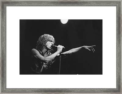 Iggy Pop Live At The Fillmore Framed Print