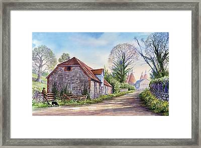 Ightham Path Framed Print