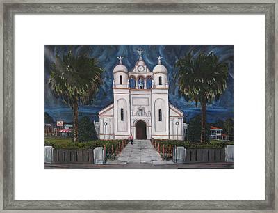 Iglesia Curridabat  Costa Rica Framed Print