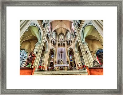 Iglesia De San Isidro De Coronado In Costa Rica Framed Print by Andres Leon