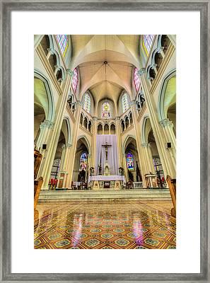 Iglesia De San Isidro De Coronado In Costa Rica Vertical Framed Print by Andres Leon