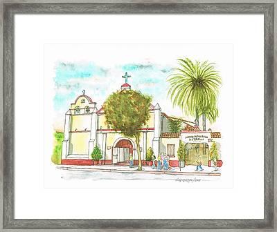 Iglesia Nuestra Senora De Los Angeles - Los-angeles - California Framed Print