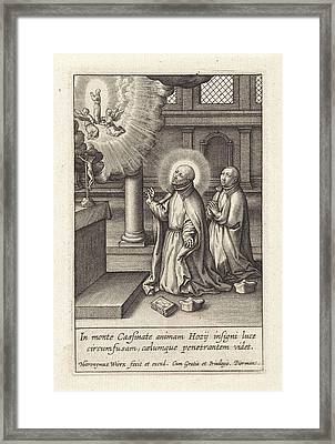 Ignatius Loyola Has A Vision Of The Assumption Of Diego Framed Print