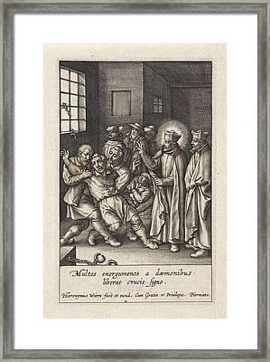 Ignatius Loyola Performs A Devilish Spell Framed Print