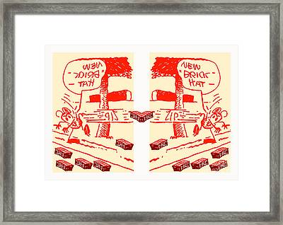 Ignatz Parallel Universe Screenprint Framed Print by Charlie Spear