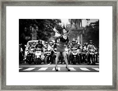 Ignore It, Enjoy Poses On The Streets Framed Print