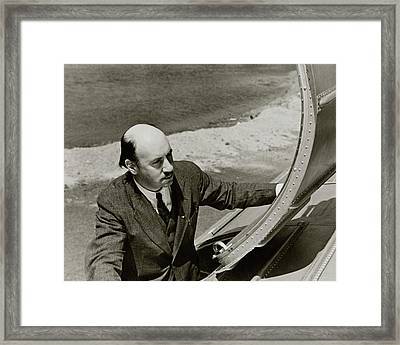 Igor Sikorsky On An Airplane Framed Print by Lusha Nelson