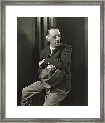 Igor Stravinsky With A Hat Framed Print