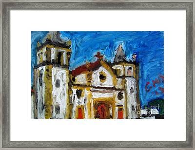 Igreja Da Se De Olinda Framed Print by Greg Mason Burns